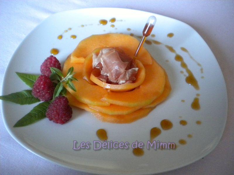 Fleur De Melon Jambon De Parme Et Caramel De Porto Les