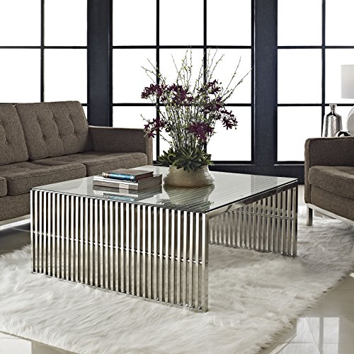 glass and chrome coffee tables for the
