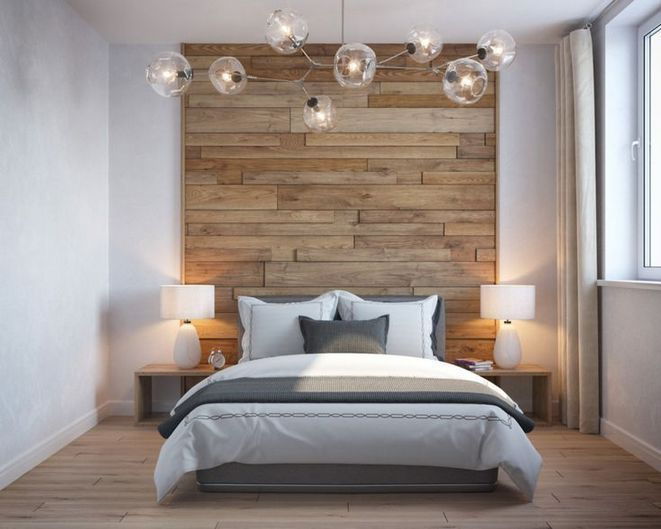 wooden wall accent for the bedroom 80