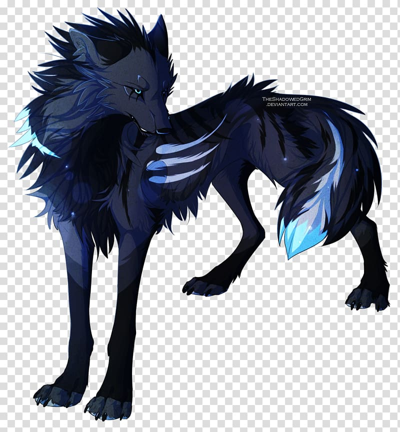 Gray Wolf Baby Wolves Drawing Anime Werewolf Blue Wolf Transparent Background Png Clipart Hiclipart