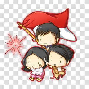 Male Anime Character With Red And White Cape Illustration Proclamation Of Indonesian Independence Independence Day August 17 Independence Day Transparent Background Png Clipart Hiclipart
