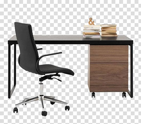 Black Office Rolling Armchair Illustration Table Office Chair Desk Boconcept Simple Style Office Desk Chair Transparent Background Png Clipart Hiclipart