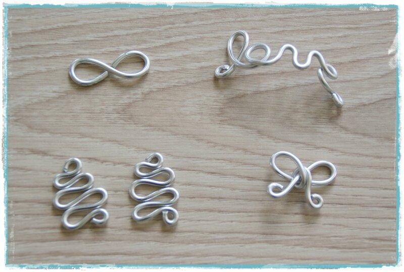 bijoux en fil d aluminium