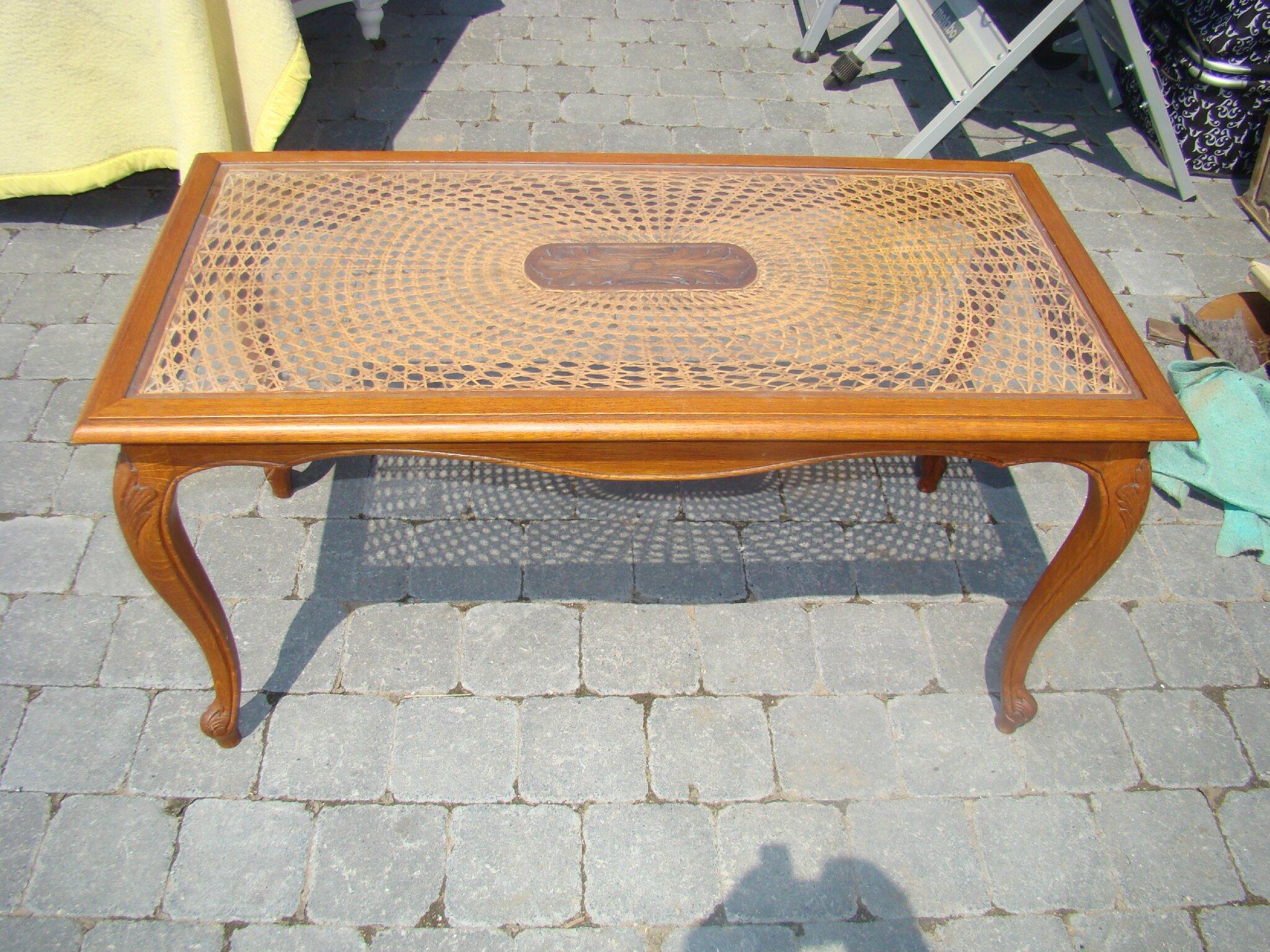 Table De Salon En Chne Style Louis Xv Remise Au Got Du