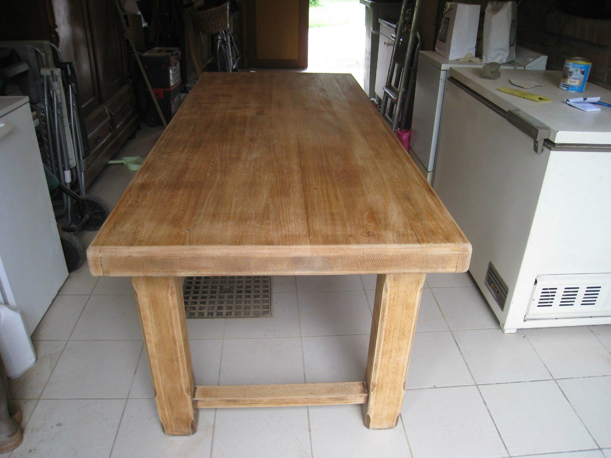 eclaircir une table en chene patines