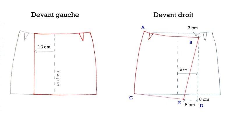asymmetric wrap skirt tutorial