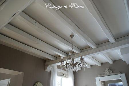 Poutres Interieures Revisitees Cottage Et Patine Le Blog