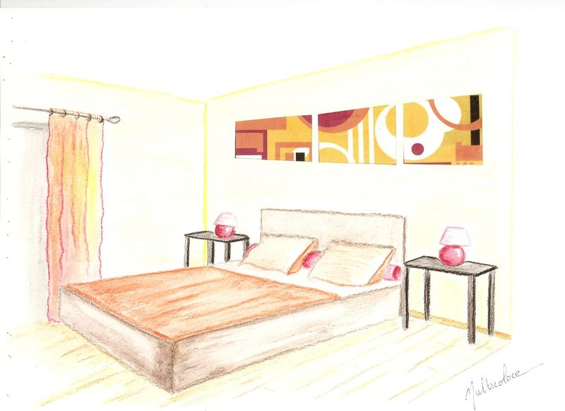 Croquis Chambre Ambiance Multicolore Decor In Idees Conseils