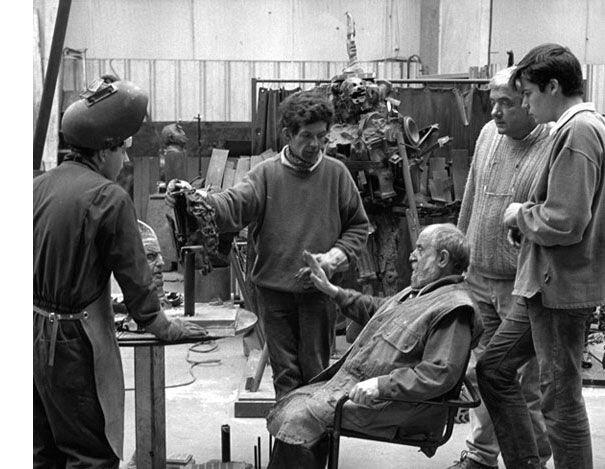 seancede travail avecl'artiste cesar 1997 fonderie bocquel