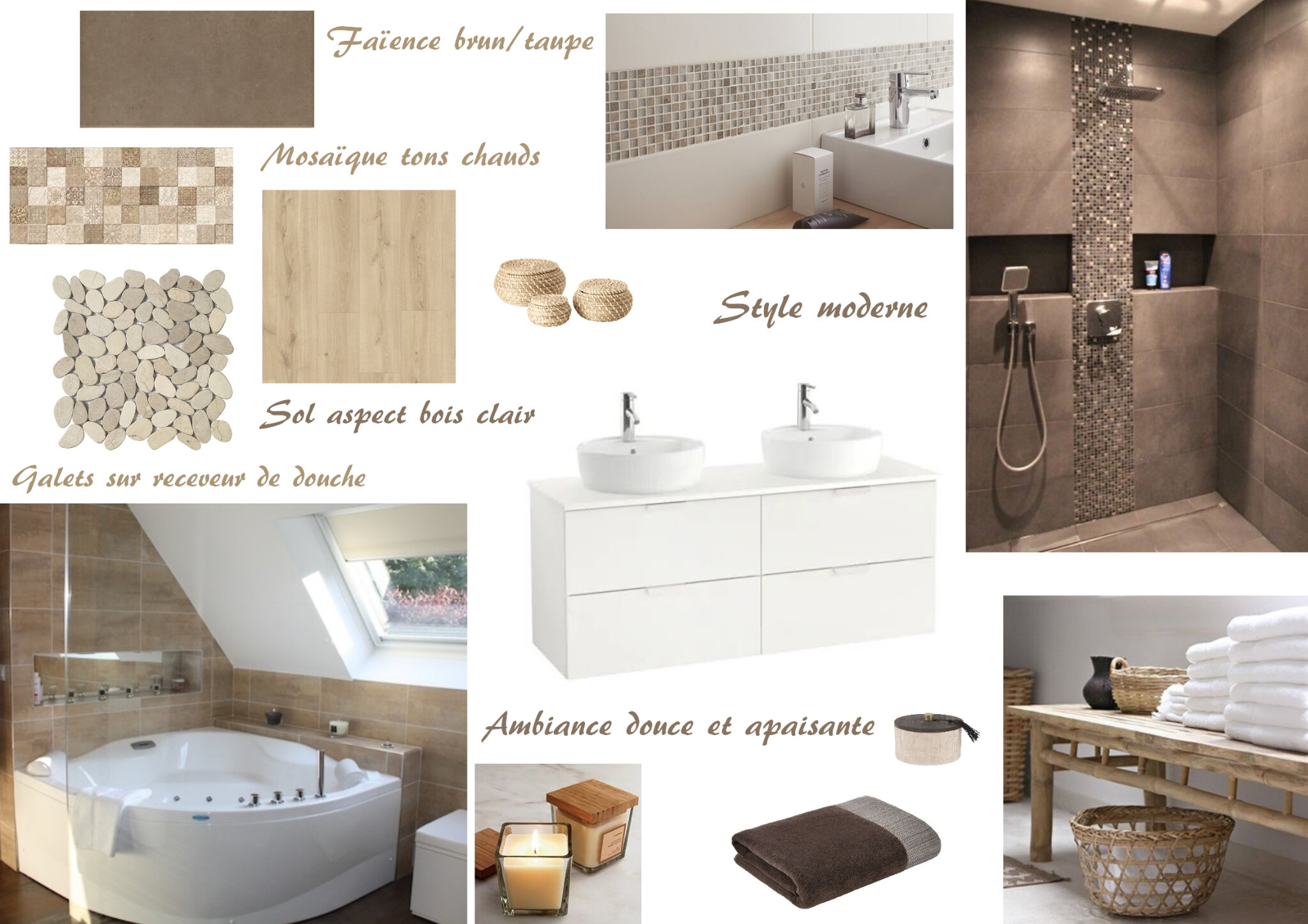 Une Salle De Bain Moderne Et Chaleureuse Sonia Saelens Deco