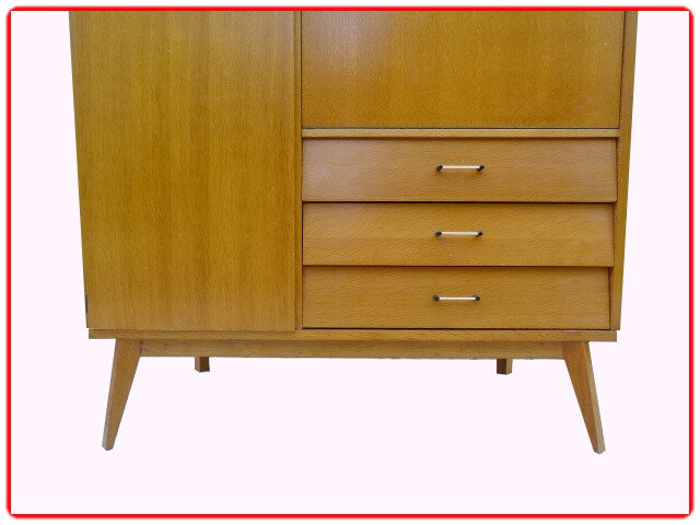 armoire secretaire penderie vintage