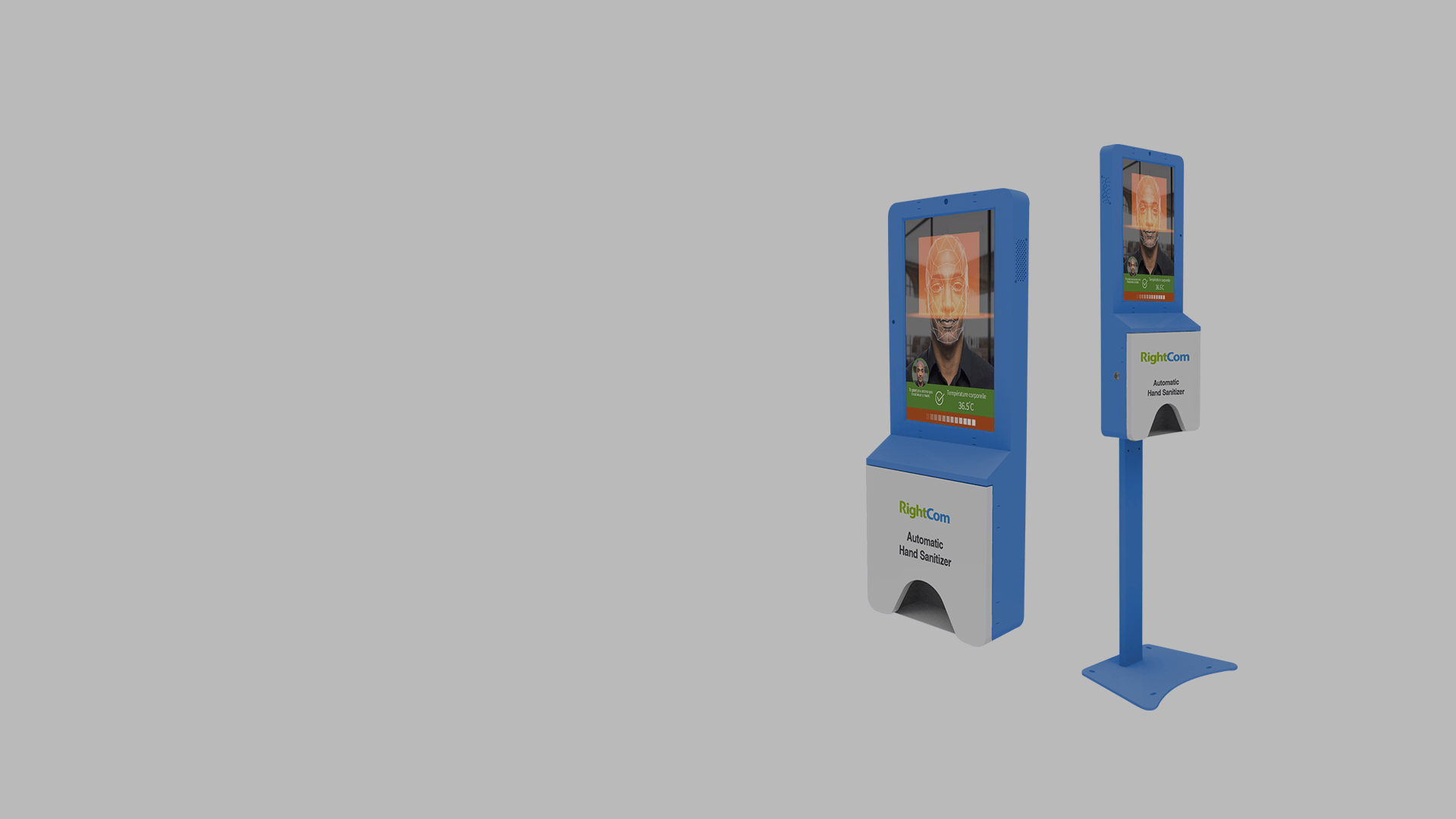 New Multifunction Kiosk With Automatic Hand Sanitizer Dispenser Rightcom