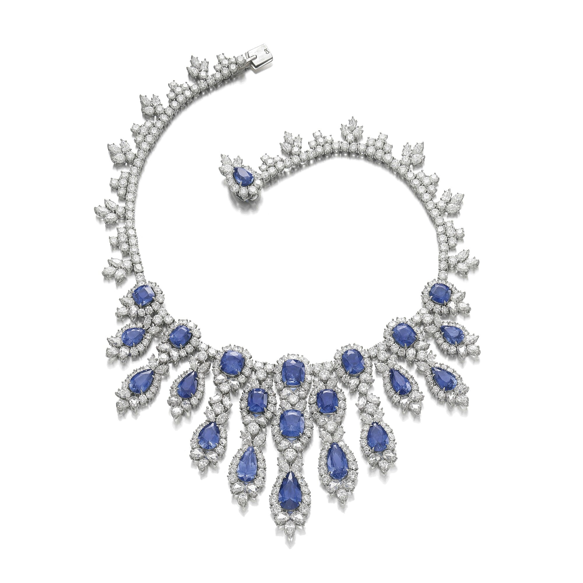 Sapphire And Diamond Necklace Harry Winston