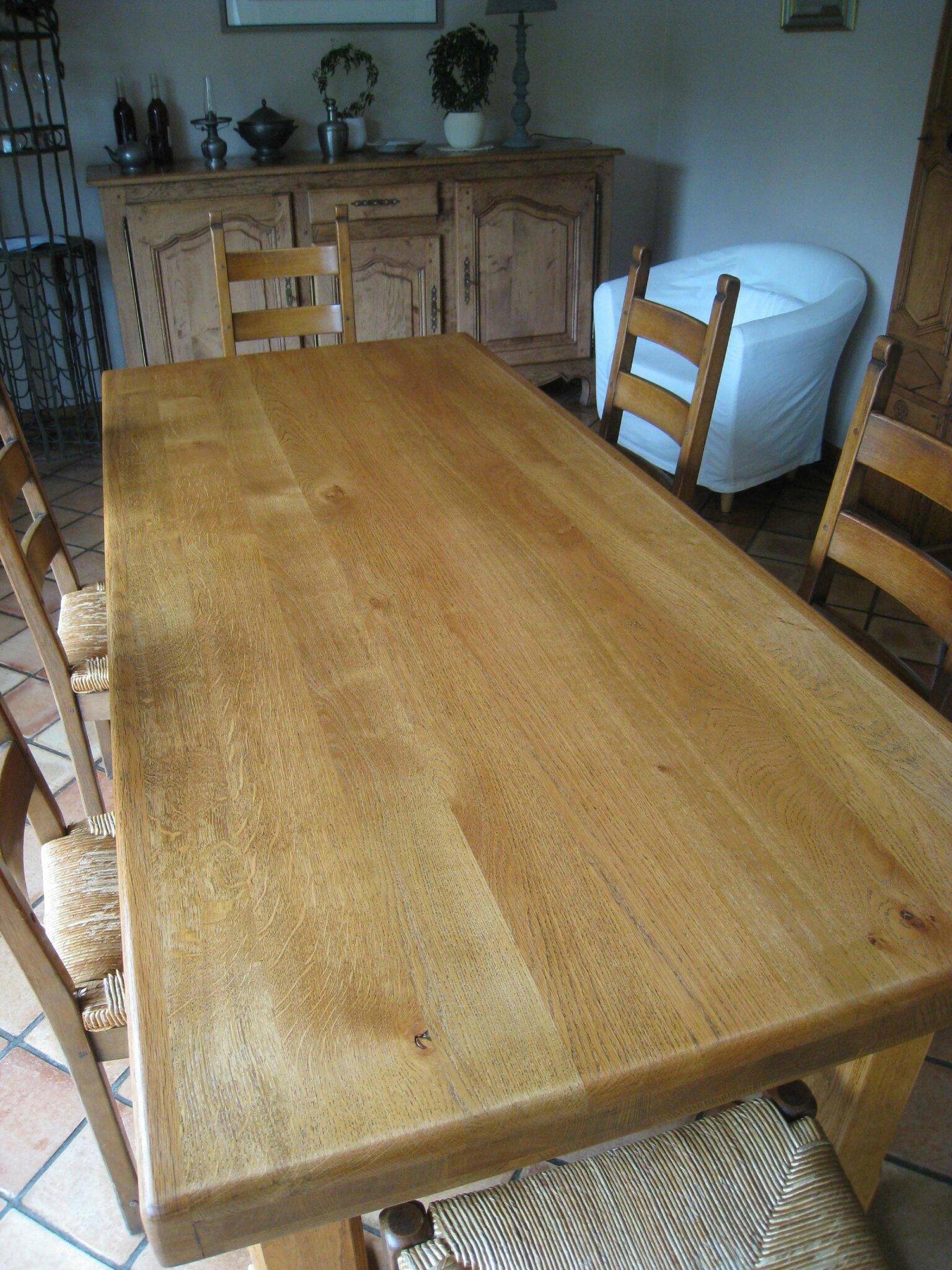 Eclaircir Une Table En Chene Patines Couleurs