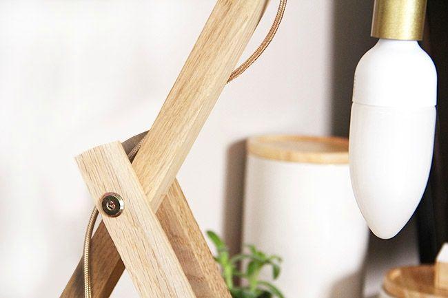 DIY Une Lampe De Table En Bois Tte Dange