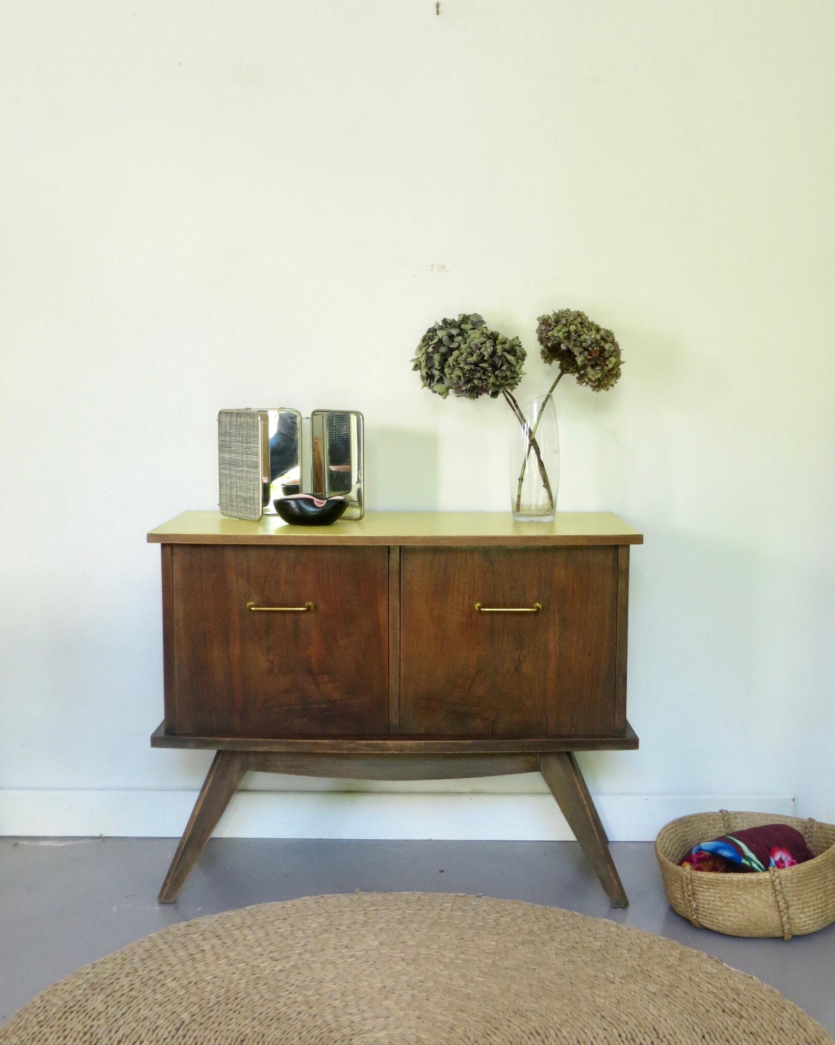 meuble vintage pieds compas meubles