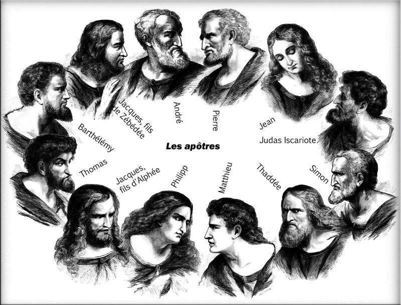 Résultats de recherche d'images pour «jésus et les 12 apôtres au ciel»