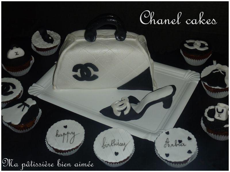 gâteau chanel sac à main et chaussures