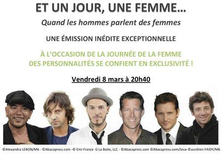 Pascal Obispo Et Un Jour Une Femme Le 8 Mars 2013 Sur Teva 1oo Fans 1oo Obispo