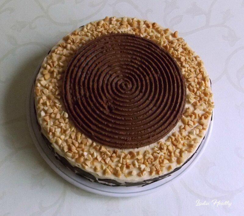 entremet glacé beurre de cacahuète, chocolat potiron2