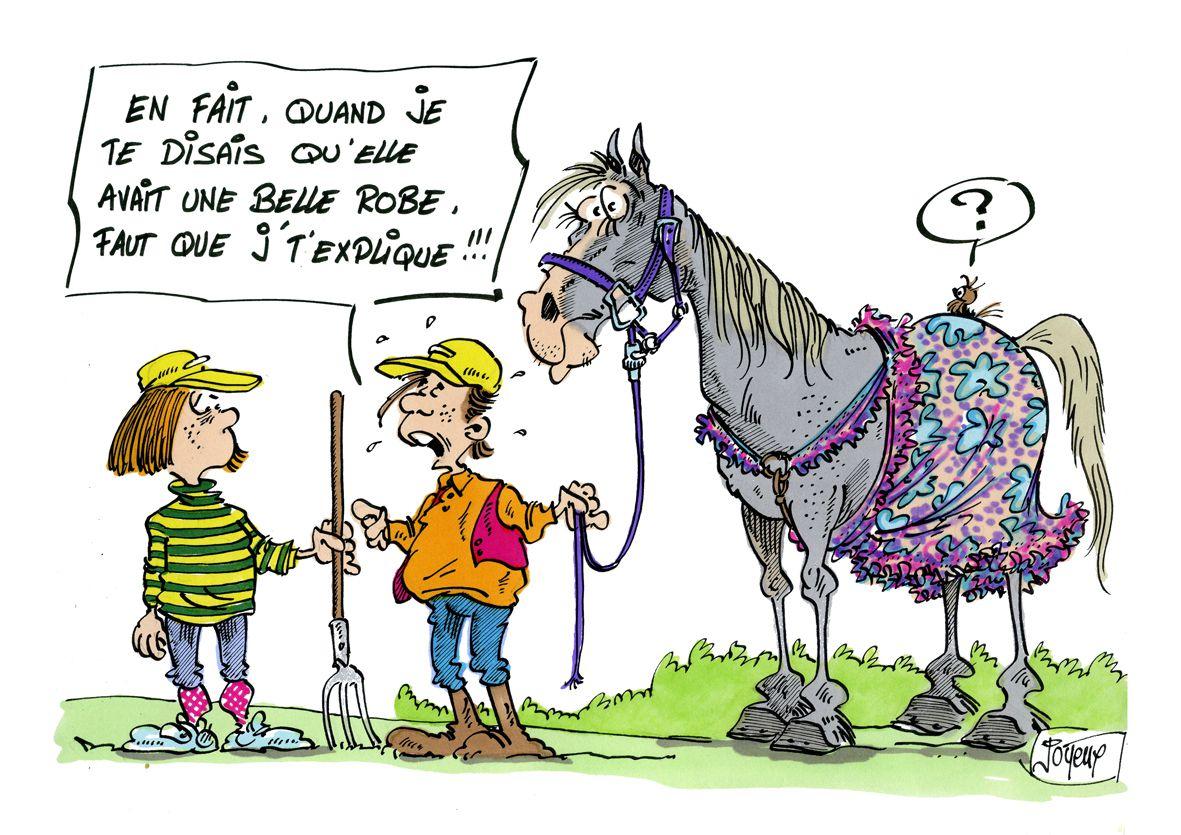 Dessin Cheval Joyeux Cartoon