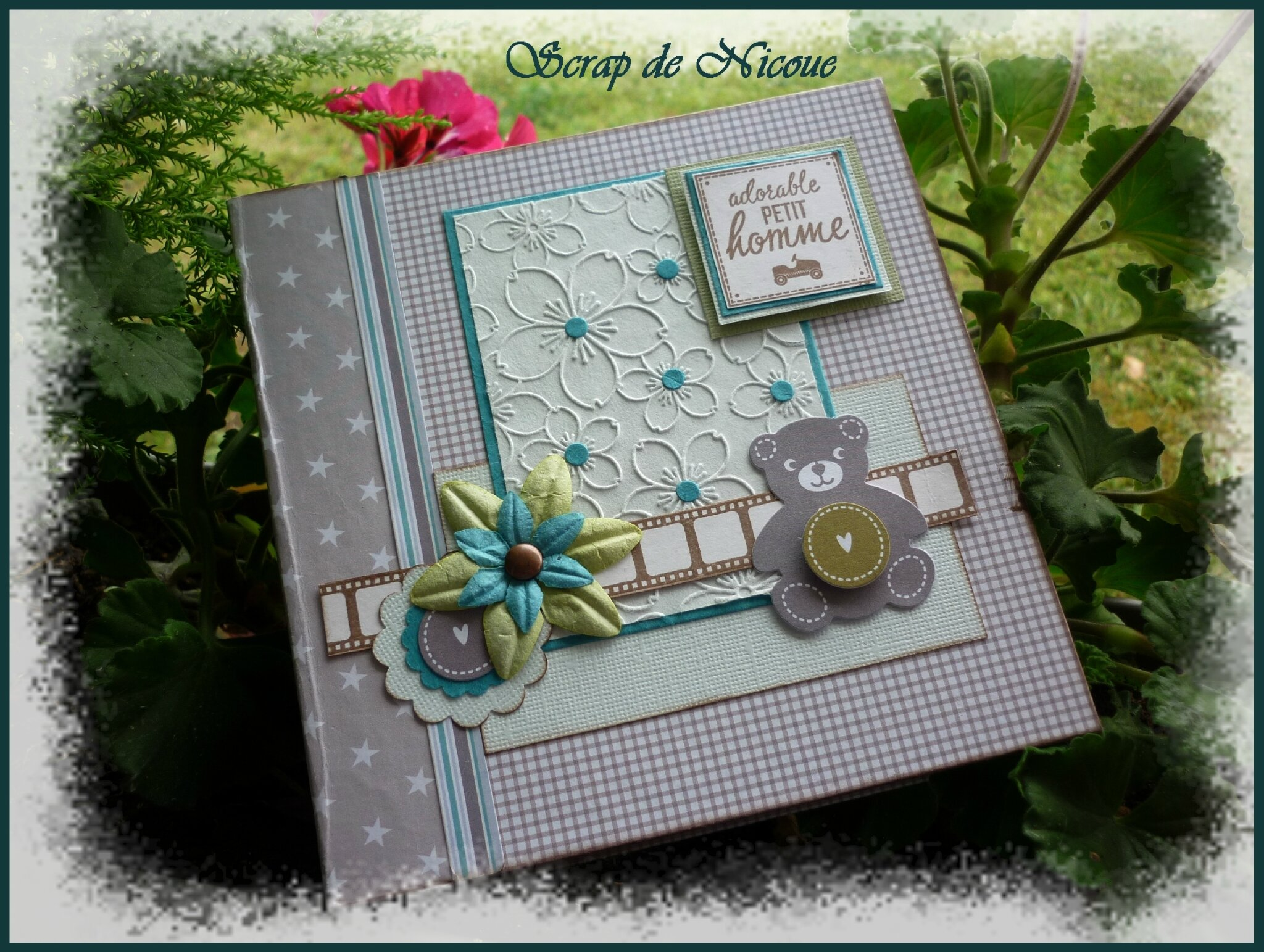 Mini Album Adorable Petit Homme Album Photos Scrap