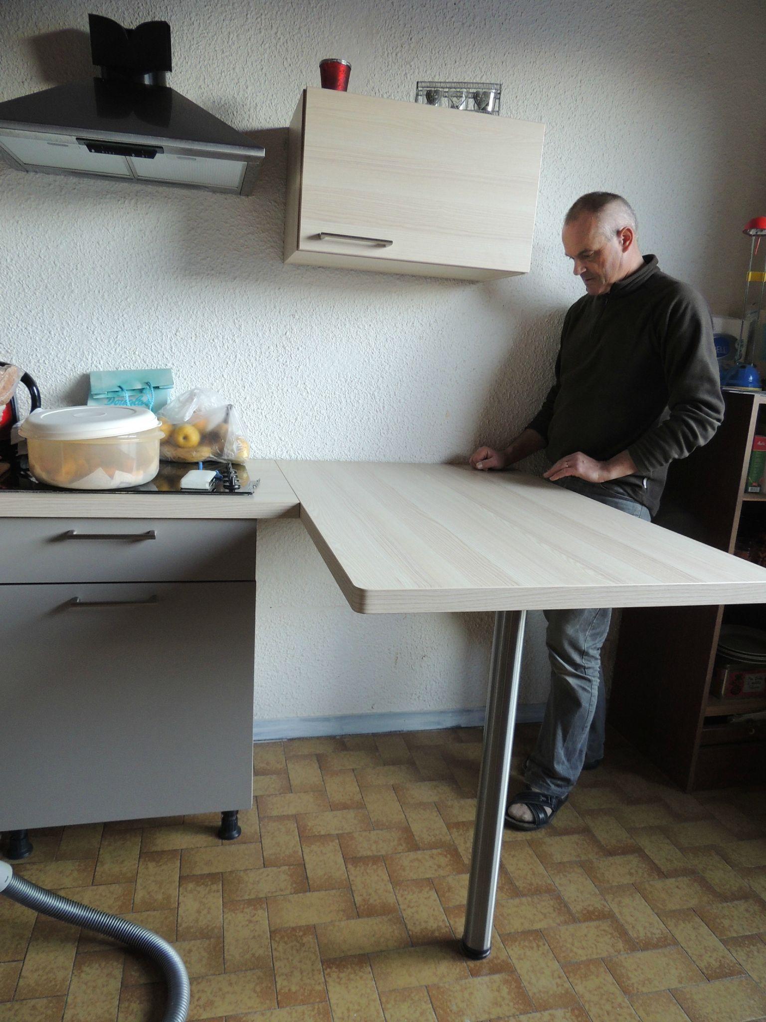 Table De Bar Fixe Au Mur