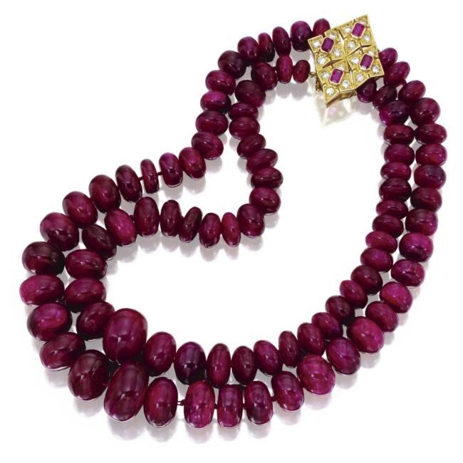 Ruby Jewelry Sothebys New York Eloge De LArt Par