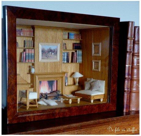Une Bibliothque Miniature De Saison De Fils En Toffes