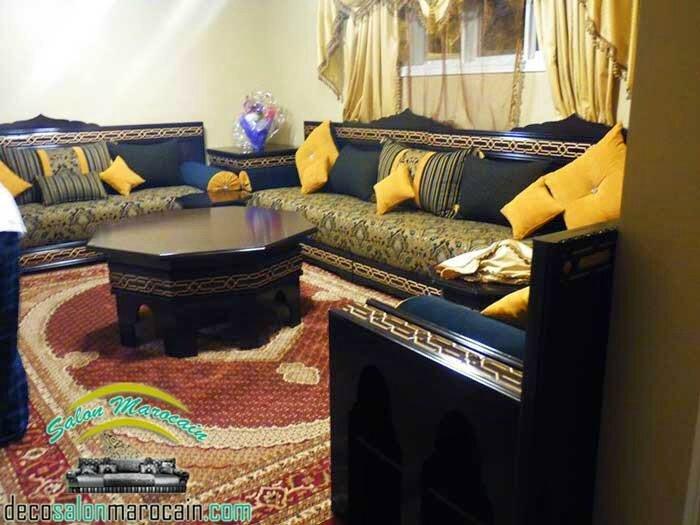 Salon Marocain Bleu Roi Et Jaune | Unixpaint
