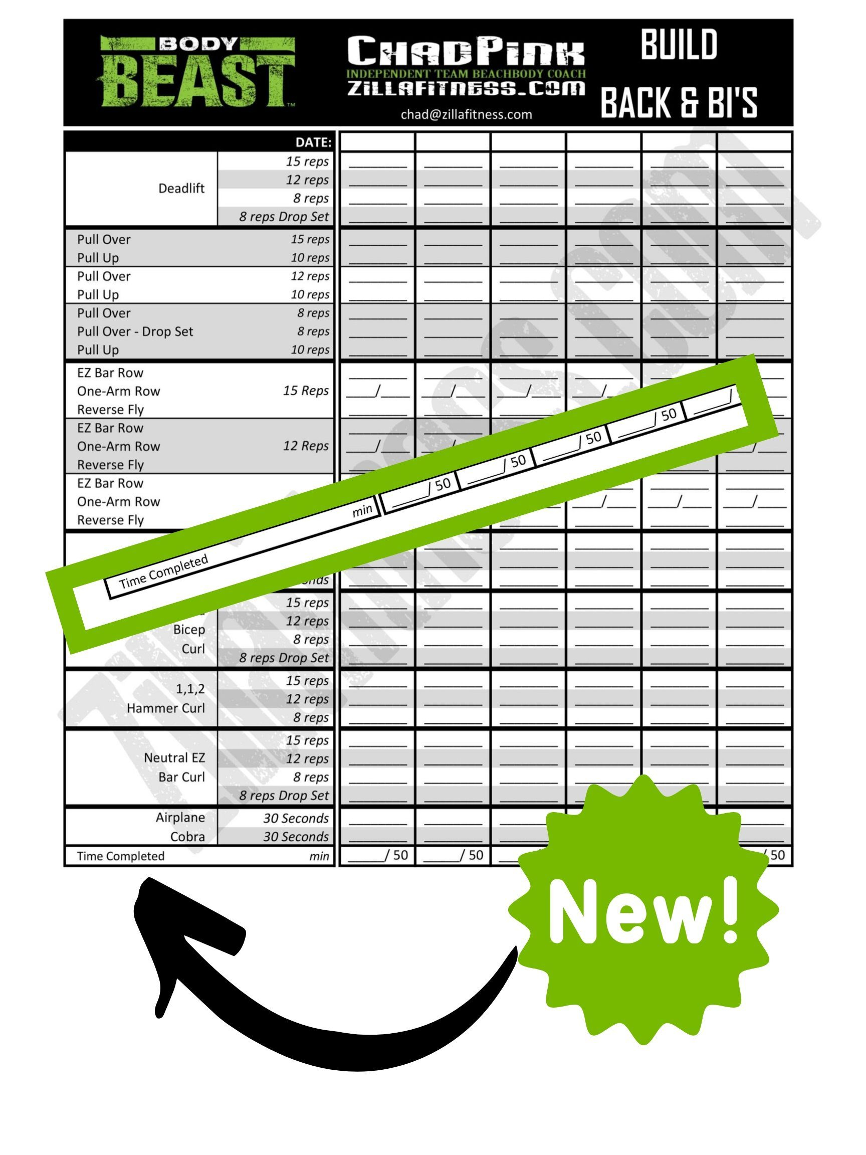 Original P90x Worksheets