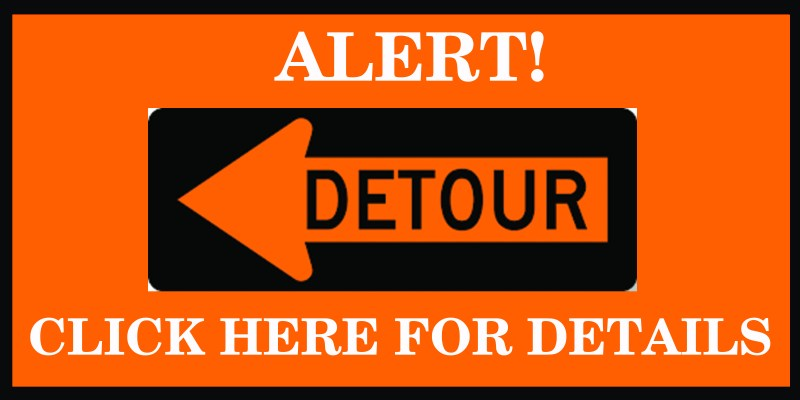 Temporary Detour ! ! ! July 19 – July 28