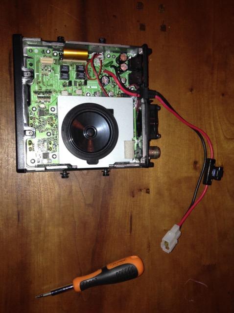 Replacing cooling fan Kenwood TM-D710 - PA8E