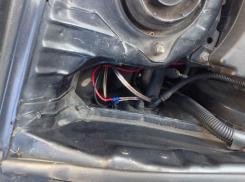 12 volt cable enters the engine compartment