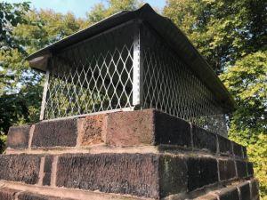 Chimney Cap on Brick Chimney