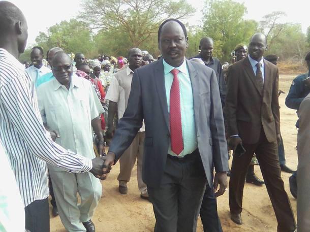 Philip Aguer at the Dr. John Garang University, Bor, March 17, 2016