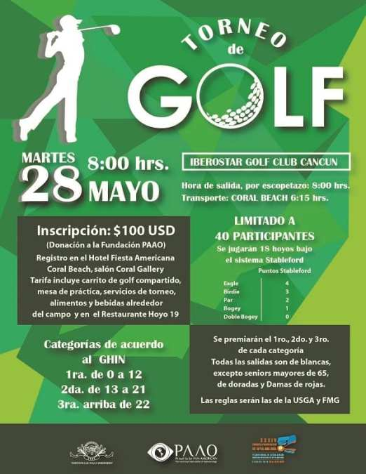 Golf Tournament, benefiting the PAOF
