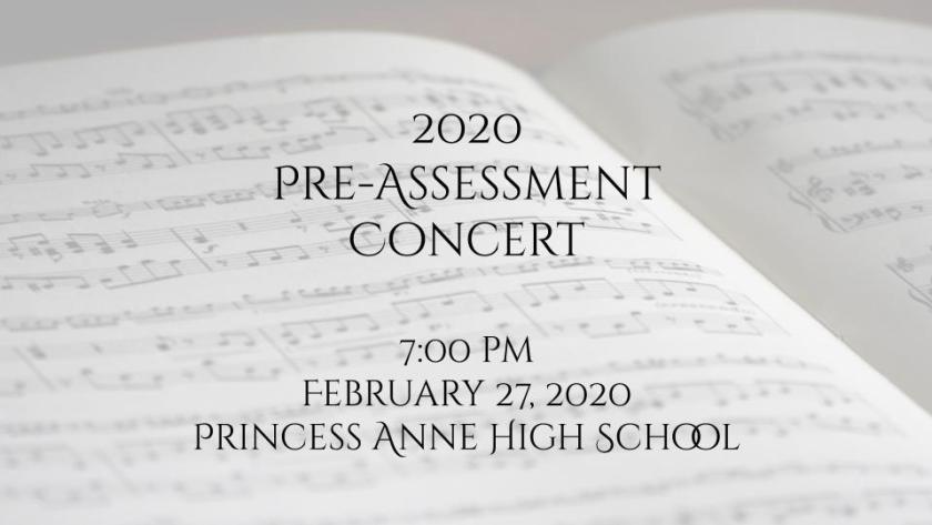 2020 Pre-Assessment Concert