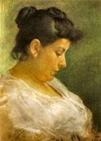 Portrait of Pablo Picasso's mother