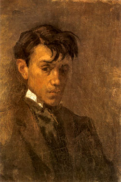 Self-portrait with uncombed hair, 1896
