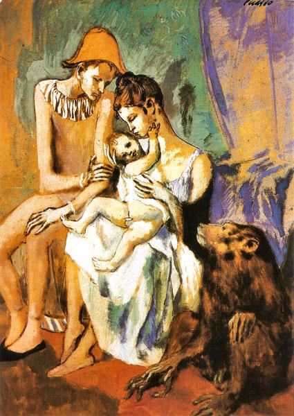 """Familia de acróbats con mono"" (Family of acrobats, with monkey), Picasso (1905)"