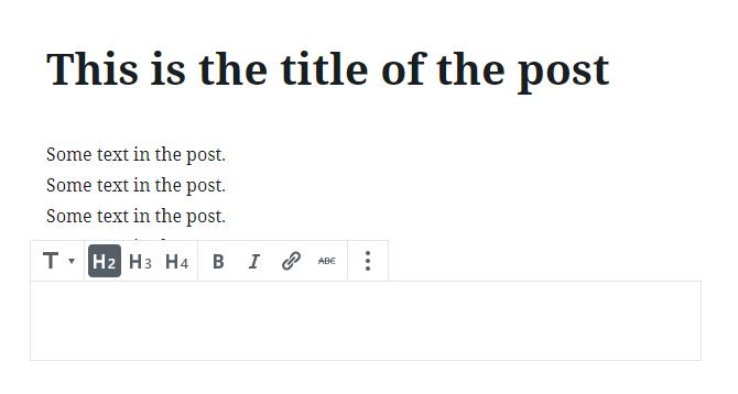 WordPress.com new editor handles titles right