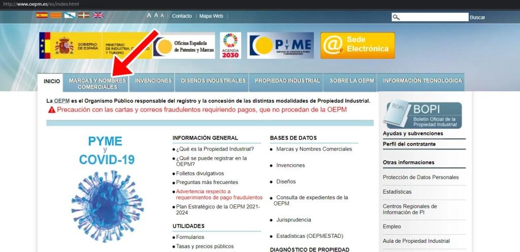 base de datos marcas registradas OEPM 01