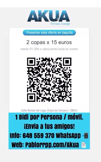 Código Bidi Terraza Akua Madrid 2015