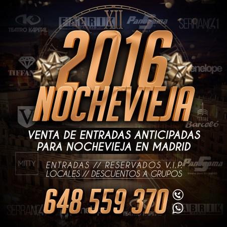 Entradas Nochevieja Madrid 2016