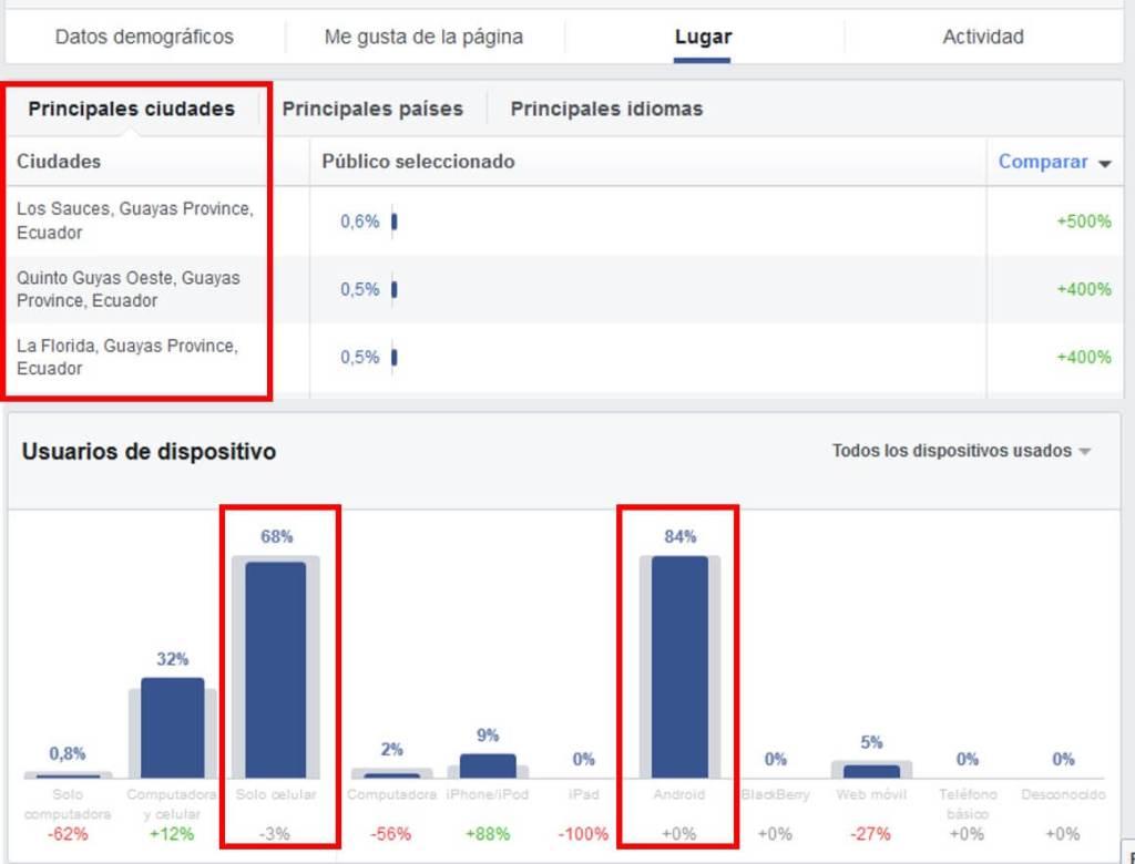 Estadísticas del público de Facebook Business Manager