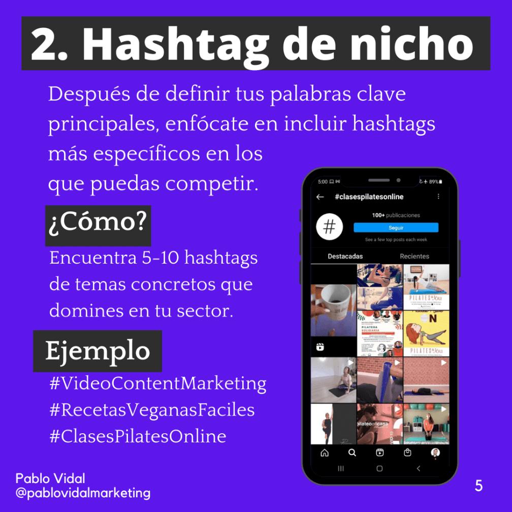 SEO en Instagram con hashtags de nicho