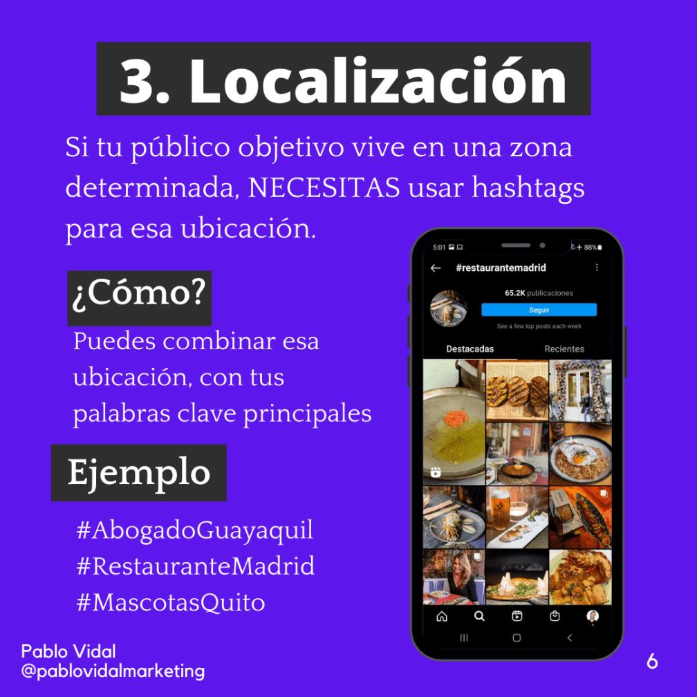 hashtags de geolocalización