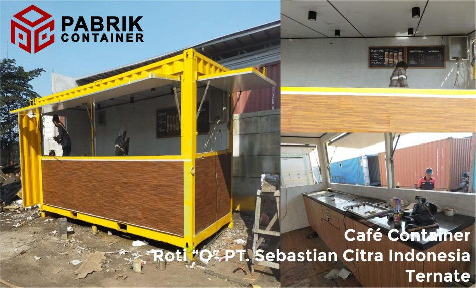 Cafe container murah