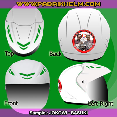 Berkampanye Dengan Helm Custom